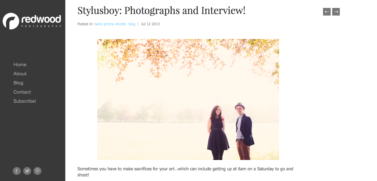 Redwood Photography Interview