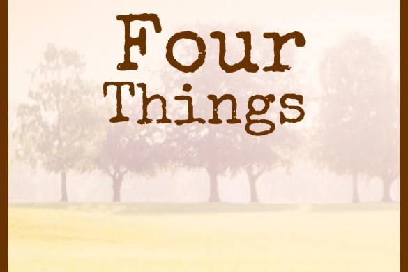 FOUR THINGS I HAVE LIKED RECENTLY IMAGE